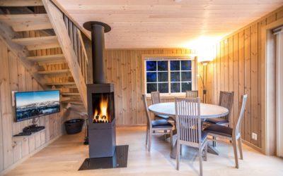 Superior hytte med 3 soverom/6 senger